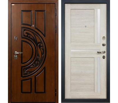 Входная стальная дверь Лекс Спартак Cisa Баджио Ясень кремовый (панель №49)