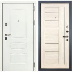 Входная дверь Лекс Сенатор 3К Шагрень белая / Верджиния Дуб беленый (панель №38)