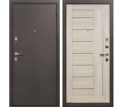 Входная стальная дверь Лекс 1А Верджиния Ясень кремовый (панель №40)