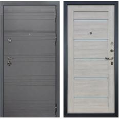 Входная дверь Лекс Сенатор 3К Софт графит / Клеопатра-2 Ясень кремовый (панель №66)