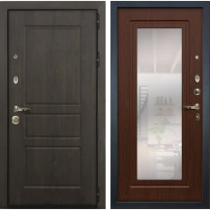 Входная дверь Лекс Сенатор Винорит с Зеркалом Береза мореная (панель №30)
