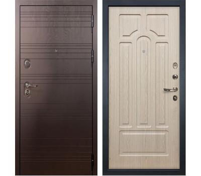 Входная стальная дверь Лекс 3К Легион Дуб беленый (панель №25)