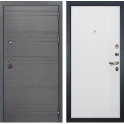 Входная дверь Лекс Сенатор 3К Софт графит / Ясень белый (панель №62)