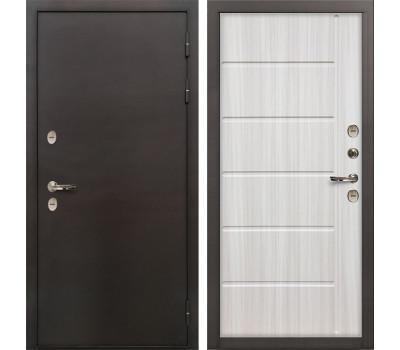 Входная уличная дверь с терморазрывом Лекс Термо Сибирь 3К Сандал белый (панель №42)
