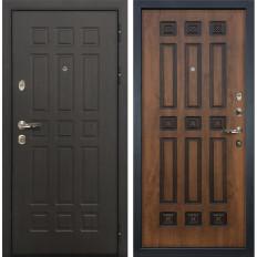 Входная дверь Лекс Сенатор 8 Голден патина черная (панель №33)