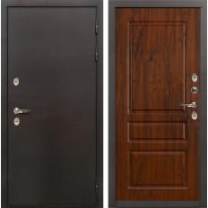 Входная дверь с терморазрывом Лекс Термо Сибирь 3К Винорит дуб тёмный (панель №92)