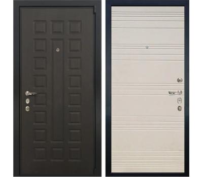 Входная стальная дверь Лекс 4А Неаполь Mottura Дуб фактурный кремовый (панель №63)