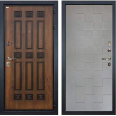 Входная дверь Лекс Гладиатор 3К Винорит Графит софт Квадро (панель №72)