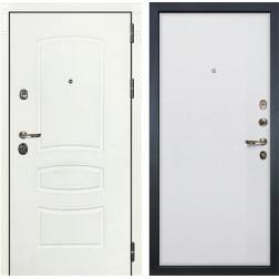 Входная металлическая дверь Лекс Сенатор 3К Шагрень белая / Ясень белый (панель №62)