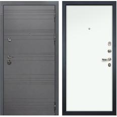 Входная дверь Лекс Сенатор 3К Софт графит / Белая (панель №59)