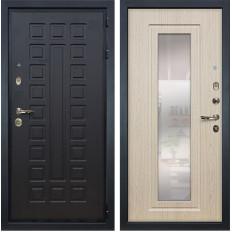 Входная дверь Лекс Гладиатор 3К с Зеркалом Дуб беленый (панель №23)