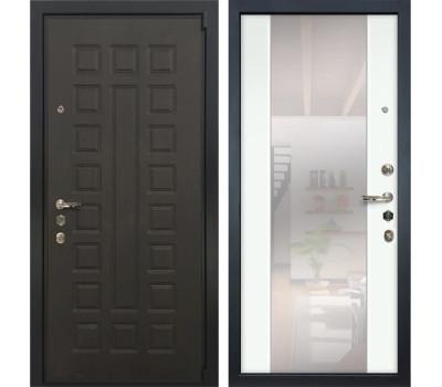 Входная стальная дверь Лекс 4А Неаполь Mottura Стиль с Зеркалом Ясень белый (панель №61)