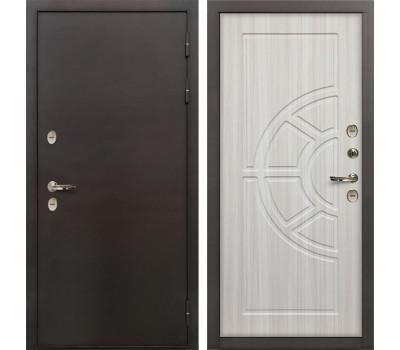 Входная уличная дверь с терморазрывом Лекс Термо Сибирь 3К Сандал белый (панель №44)