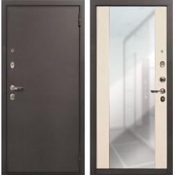 Входная дверь Лекс 1А Стиль с Зеркалом Дуб беленый (панель №45)