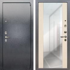 Входная дверь Лекс 3 Барк Стиль с Зеркалом Дуб беленый (панель №45)