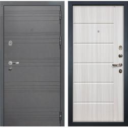 Входная стальная дверь Лекс Легион 3К Софт графит / Сандал белый (панель №42)
