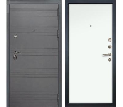 Входная металлическая дверь Лекс Сенатор 3К Софт графит / Белая (панель №59)