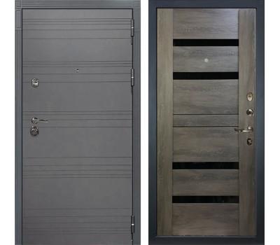 Входная металлическая дверь Лекс Сенатор 3К Софт графит / Неро Графит шале (панель №65)