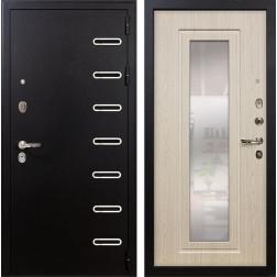 Входная дверь Лекс Витязь с Зеркалом Дуб беленый (панель №23)
