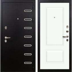 Входная металлическая дверь Лекс Витязь Вероника-1 Шпон Эмаль Белая (панель №55)