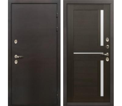 Входная уличная дверь с терморазрывом Лекс Термо Сибирь 3К Баджио Венге (панель №50)
