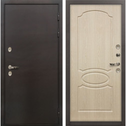Входная дверь с терморазрывом Лекс Термо Сибирь 3К Дуб беленый (панель №14)