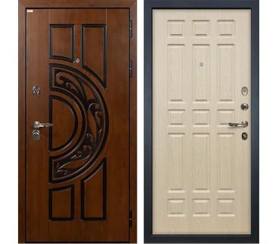 Входная стальная дверь Лекс Спартак Cisa Дуб беленый (панель №28)