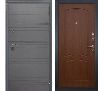 Входная металлическая дверь Лекс Сенатор 3К Софт графит / Береза мореная (панель №11)