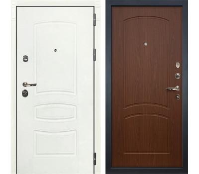 Входная металлическая дверь Лекс Сенатор 3К Шагрень белая / Береза мореная (панель №11)