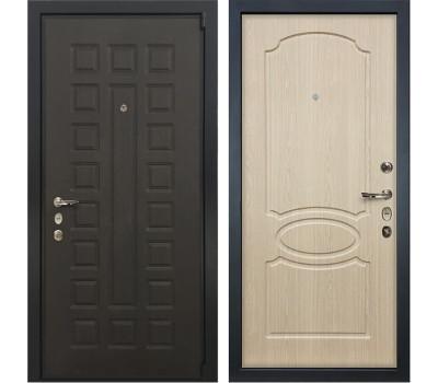 Входная стальная дверь Лекс 4А Неаполь Mottura Дуб беленый (панель №14)
