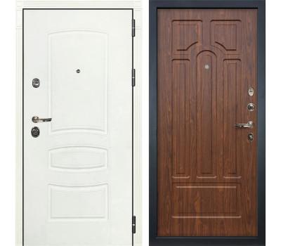 Входная металлическая дверь Лекс Сенатор 3К Шагрень белая / Береза мореная (панель №26)