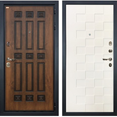 Входная дверь Лекс Гладиатор 3К Винорит Белая шагрень Квадро (панель №71)