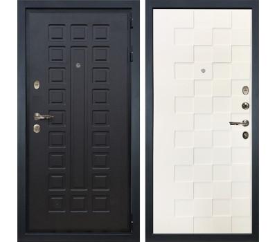 Входная металлическая дверь Лекс Гладиатор 3К Белая шагрень Квадро (панель №71)