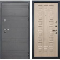 Входная дверь Лекс Легион 3К Софт графит / Дуб беленый (панель №20)