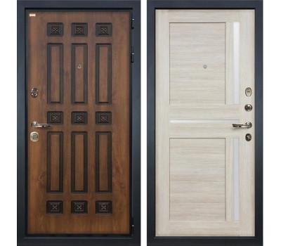 Входная металлическая дверь Лекс Гладиатор 3К Винорит Баджио Ясень кремовый (панель №49)