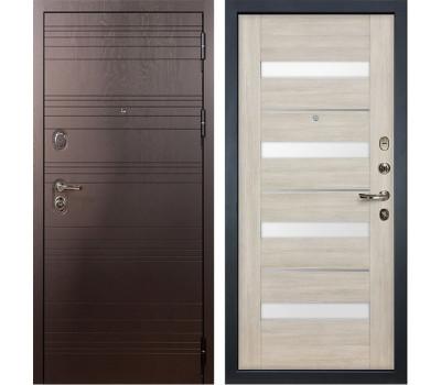 Входная стальная дверь Лекс Легион 3К Сицилио Ясень кремовый (панель №48)