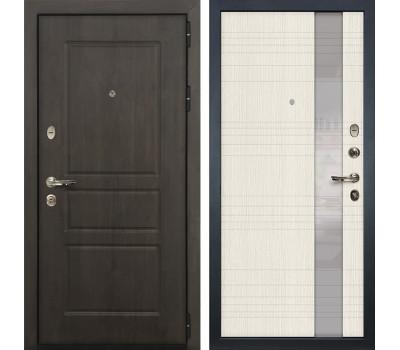 Входная стальная дверь Лекс Сенатор Винорит Новита Дуб беленый (панель №52)