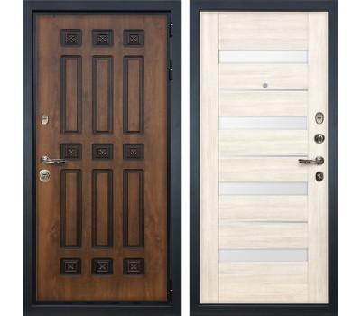 Входная металлическая дверь Лекс Гладиатор 3К Винорит Сицилио Дуб беленый (панель №46)