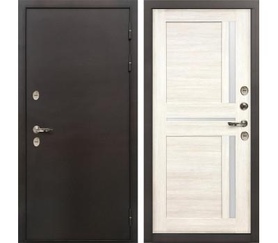 Входная уличная дверь с терморазрывом Лекс Термо Сибирь 3К Баджио Дуб беленый (панель №47)