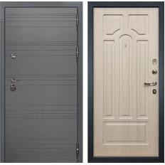 Входная дверь Лекс Сенатор 3К Софт графит / Дуб беленый (панель №25)