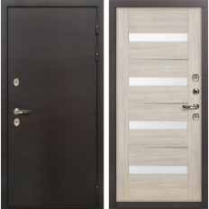 Входная дверь с терморазрывом Лекс Термо Сибирь 3К Сицилио Ясень кремовый (панель №48)
