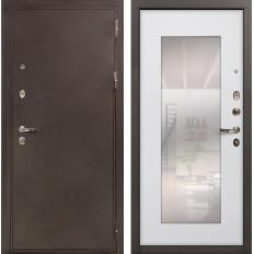 Входная дверь Лекс 5А Цезарь с Зеркалом Ясень белый (панель №37)