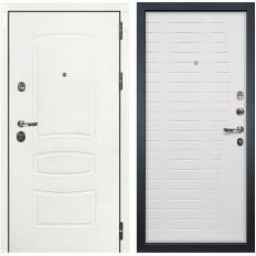 Входная дверь Лекс Сенатор 3К Шагрень белая / Ясень белый (панель №36)