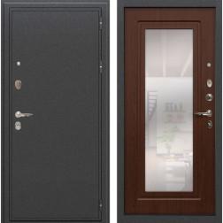 Входная стальная дверь Лекс Колизей с Зеркалом Береза мореная (панель №30)