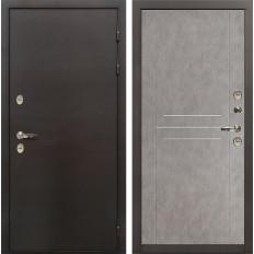 Входная дверь с терморазрывом Лекс Термо Сибирь 3К Бетон серый (панель №81)
