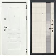 Входная дверь Лекс Легион 3К Шагрень белая / Новита Дуб беленый (панель №52)