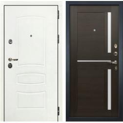 Входная дверь Лекс Сенатор 3К Шагрень белая / Баджио Венге (панель №50)