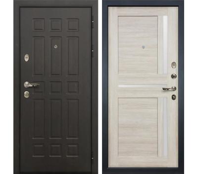 Входная металлическая дверь Лекс Сенатор 8 Баджио Ясень кремовый (панель №49)