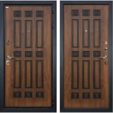 Входная дверь Лекс Гладиатор 3К Винорит Голден патина черная (панель №33)
