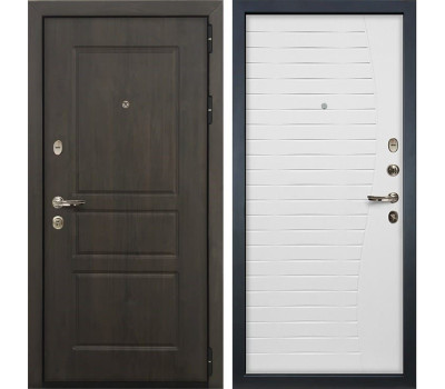 Входная стальная дверь Лекс Сенатор Винорит Ясень белый (панель №36)
